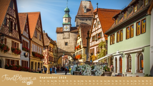Travel Bloggers Desktop Calendar Rothenberg Germany