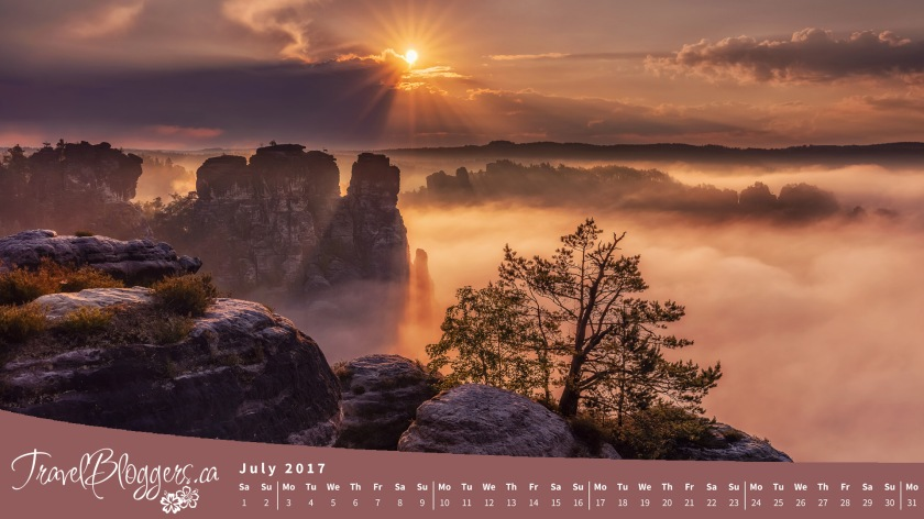 Dresden, Germany, Wallpaper, Calendar, Travel Bloggers, TravelBloggers.ca, Travel Photos, Vacation, Sunrise, Saxon Switzerland National Park