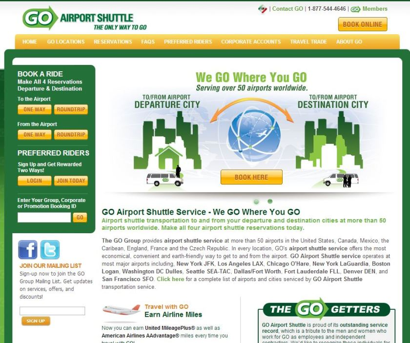 Go Airport Shuttle, TravelBloggers.ca