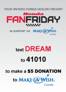 travelbloggers.ca, Fan Friday, Make a Wish, Honda Indy of Toronto, Ontario Honda Dealers, Honda