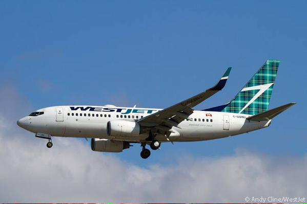 WestJet TartanTail, TravelBloggers.ca