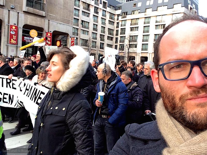 Sam in Brussels
