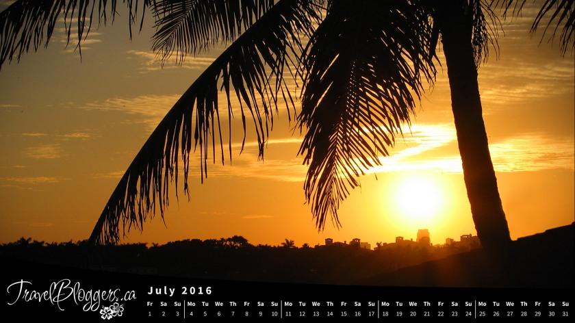 TravelBloggers.ca, Florida Sunset, Desktop Wallpaper