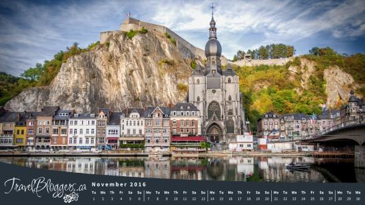 November Desktop Wallpaper Dinant Belgium