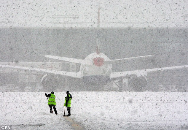 Snow Covered Airport, Flight Delay, Flight Cancellation, TravelBloggers.ca