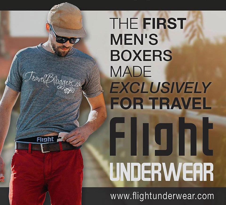 Flight Underwear, TravelBloggers.ca