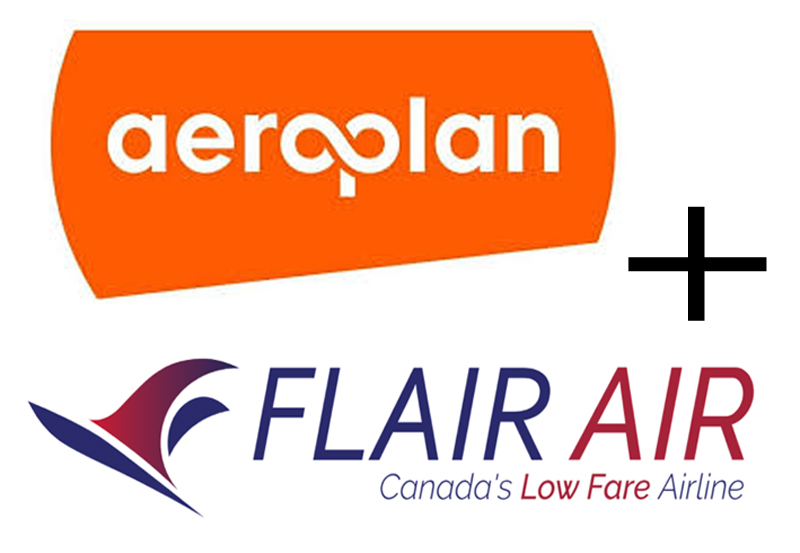 Aeroplan + Flair Airlines Logo, TravelBloggers.ca, @Travelbloggerz