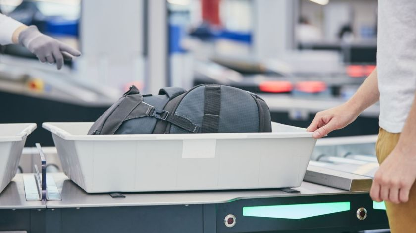 Airport Security Bin, Travelbloggers.ca