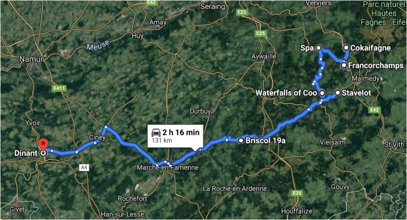 Direction Cokaifagne - Dinant, Belgium